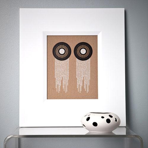 Modern Letterpress Wall Art