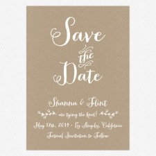 Rustic Country Save the Date Cards