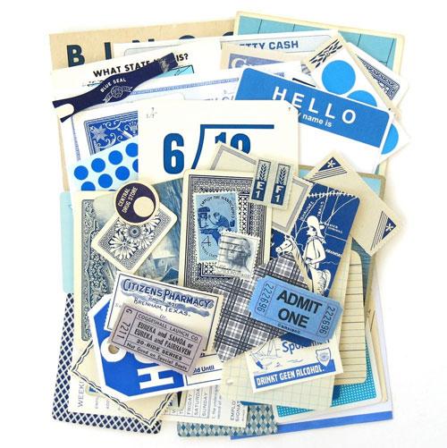 Blue Vintage Ephemera Pack from Saturday Morning Vintage