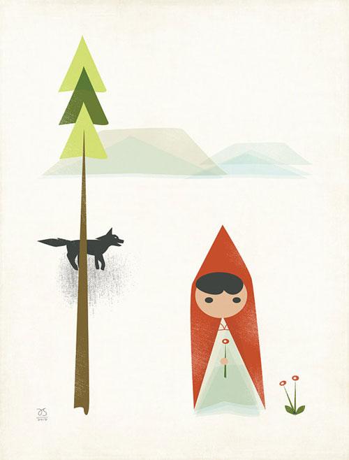 Little Red Riding Hood Giclee Print | Amy Sullivan