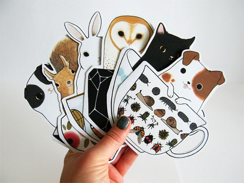 Cuties in Teacups Cards | Two Black Cats Studio