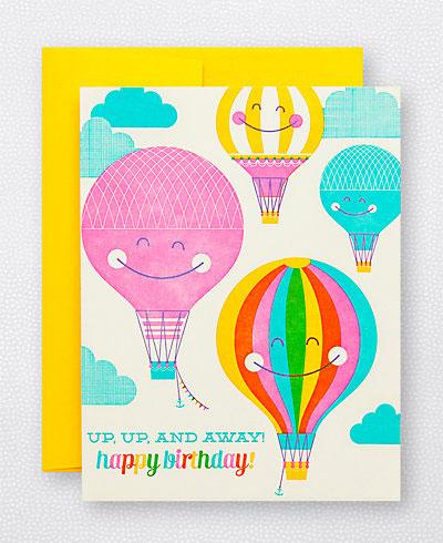 Hot Air Balloon Birthday Card | Hello! Lucky