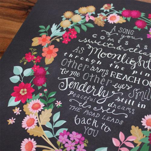 Wildflower Tangle Print | Karla Pruitt