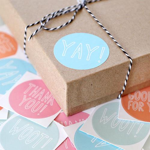 Cute Packaging Stickers | Julie Ann Art