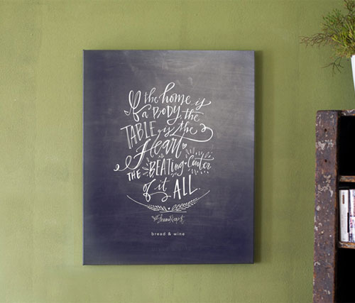 The Table Canvas Print | Lindsay Letters