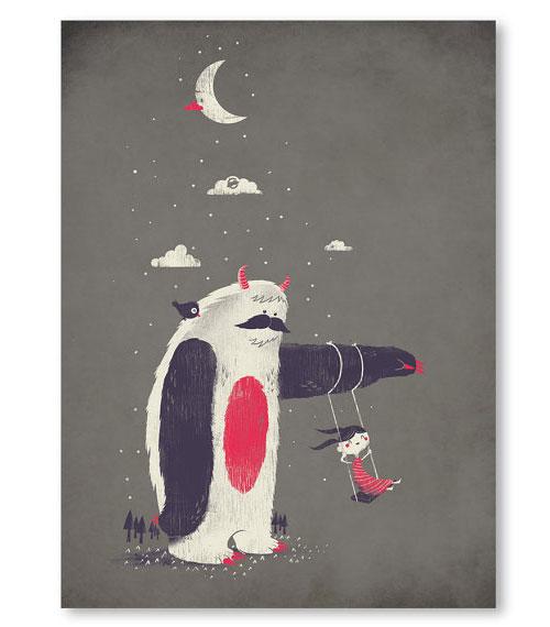 Yeti Art Print | Fuzzy Ink