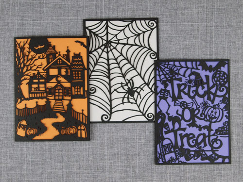 Laser Cut Halloween Cards | Alexis Mattox Design