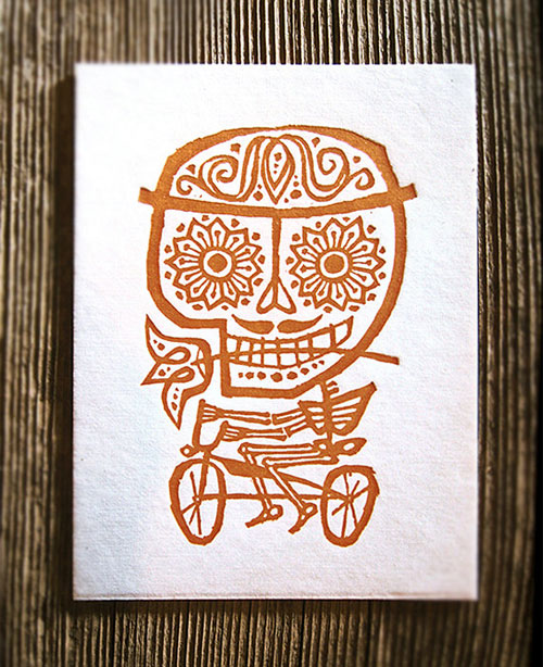 Halloween Letterpress Art Print | Ink Pop