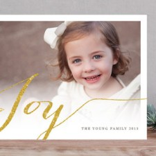 Glittering Joy Holiday Photo Cards