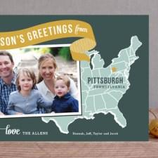 Holiday Map - East Coast Photo Cards