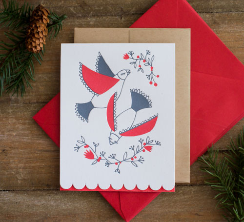 Lights & Lucia Holiday Letterpress Cards | Moxie House Paper Goods
