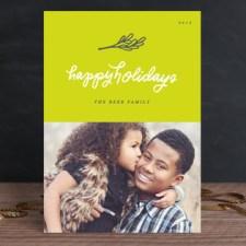 Neon Mistletoe Holiday Photo Cards
