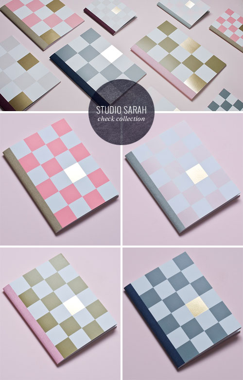 Studio Sarah Check Notebook Collection