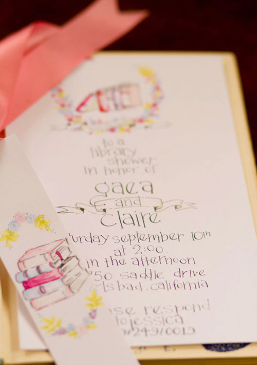 whimsical book themed baby shower invitations design house of moira