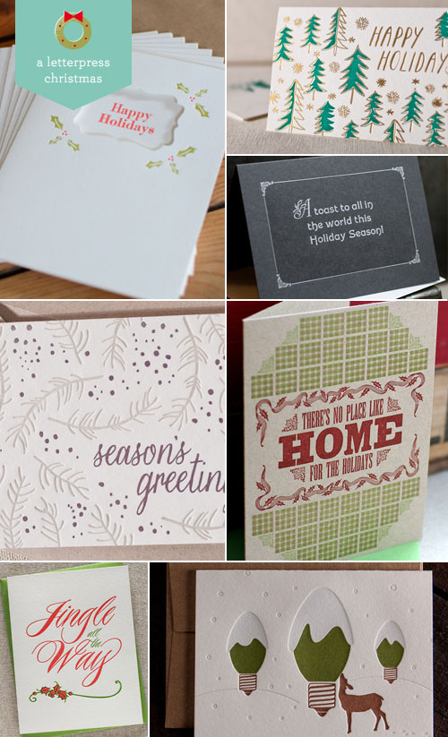A Letterpress Christmas, Roundup #2 as seen on papercrave.com