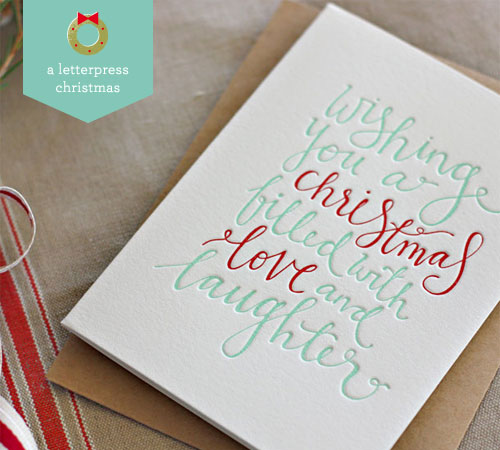 Letterpress Christmas Card | Bespoke Press