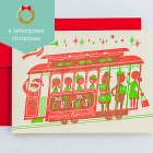 Cable Car Letterpress Christmas Cards   Esther Aarts for Hello! Lucky