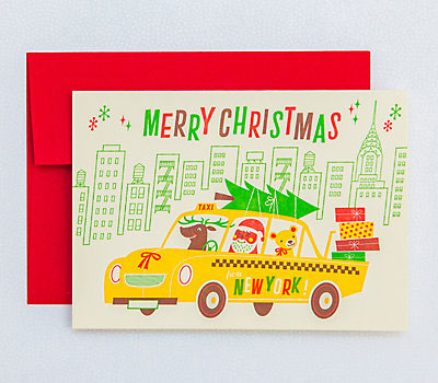 New York Letterpress Christmas Cards | Esther Aarts for Hello! Lucky