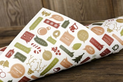Collage Holiday Gift Wrap | Ruff House Art