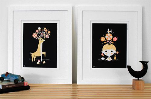 Black Bouquet Print Series   Tad Carpenter
