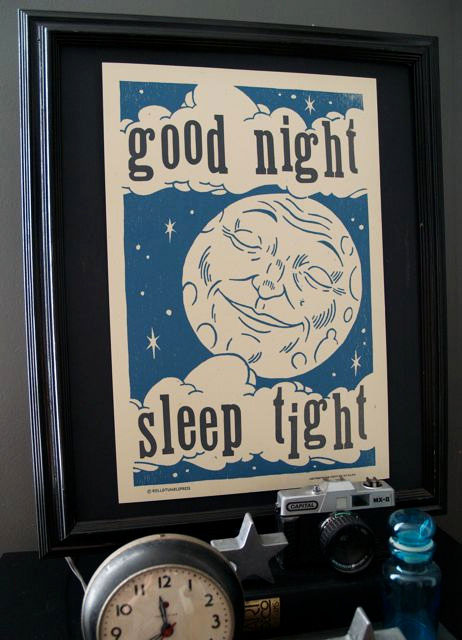 Good Night Letterpress Print | Roll & Tumble Press