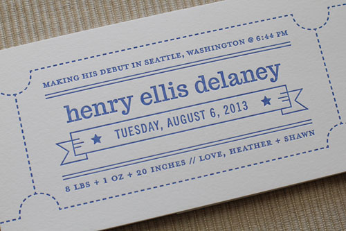 Letterpress Ticket Wrap | Maida Vale