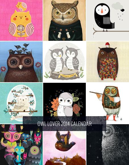 Free Printable 2014 Owl Lover Calendar   My Owl Barn