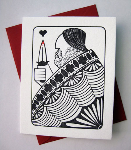 House Rules King of Hearts Letterpress Card | Banshee Press
