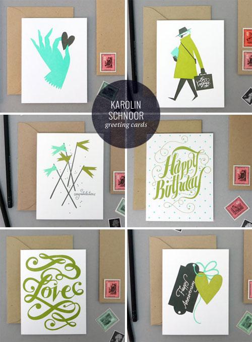 Letterpress Greeting Cards | Karolin Schnoor (printing by Bison Bookbinding & Letterpress)
