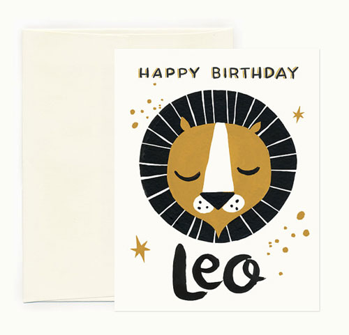 Leo Zodiac Birthday Card | Idlewild Co.