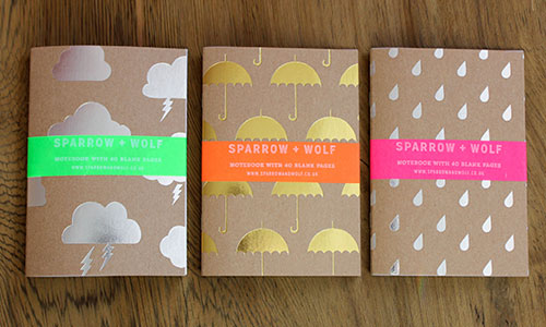 Rainy Day Foil Stamped Notebooks | Sparrow + Wolf