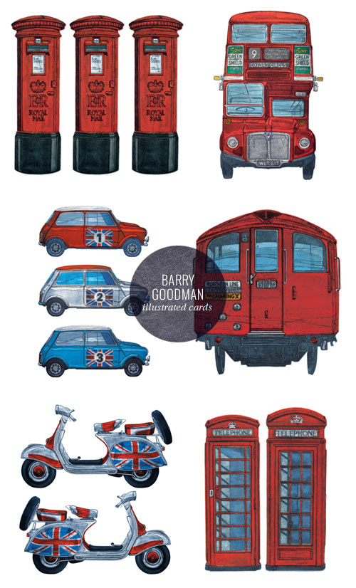 UK-Themed Illustrated Cards | Barry Goodman