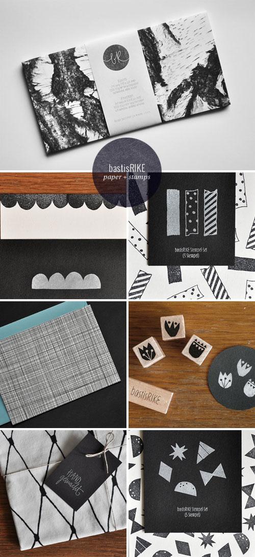 bastisRIKE Paper Goods + Rubber Stamps
