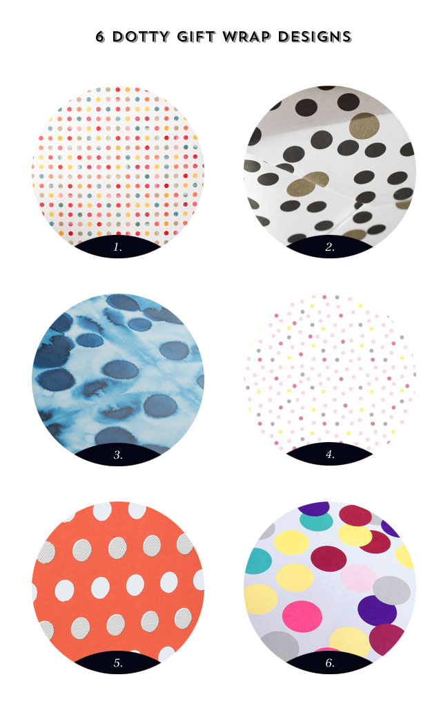 6 Dotted gift Wrap Designs as seen on papercrave.com