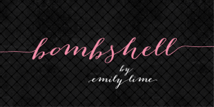 Bombshell Pro Font by Emily Lime