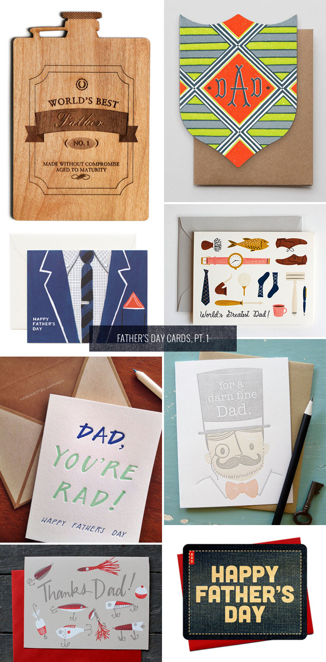 Father's Day Cards, Pt. 1 as seen on papercrave.com