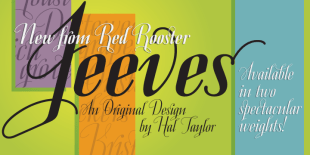 Jeeves Font by Hal Taylor