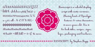 Raniscript Font by Stephen Rapp