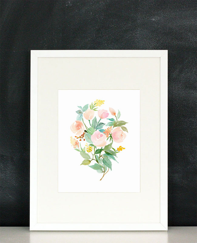 Rose Bouquet Watercolor Print | Yao Cheng