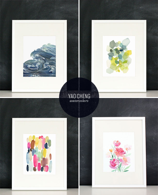 Yao Cheng Watercolor Art Prints