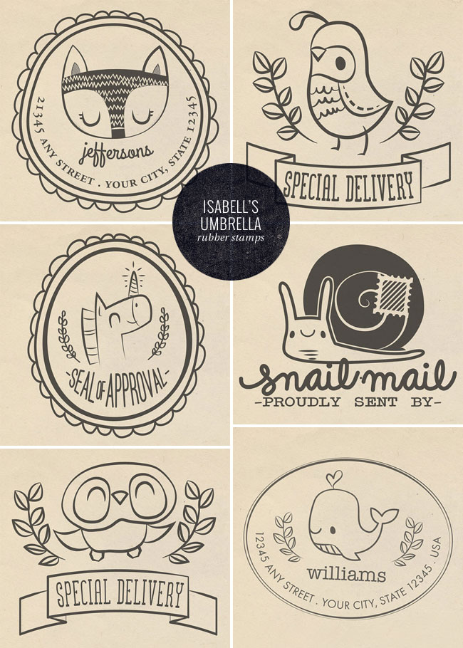 Cute Photopolymer Stamps   Isabell's Umbrella