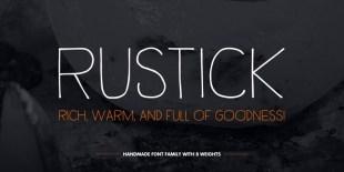 Rustick Font | Thinkdust