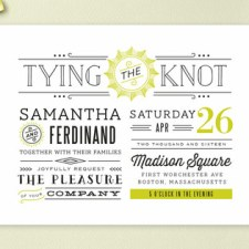 Trendy Type Wedding Invitations by Chocomocacino