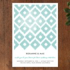 Fresh Ikat Wedding Invitations by Alethea and Ruth