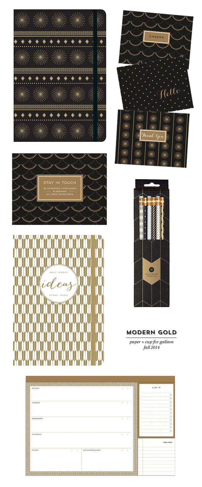 Modern Gold Collection | Paper + Cup for Galison