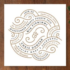 Linea Wedding Invitations by Lori Wemple