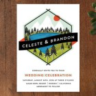 Hipster Merit Badge Wedding Invitations by Angela Marzuki