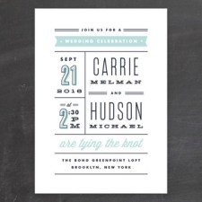 Posted Wedding Invitations by Kristie Kern