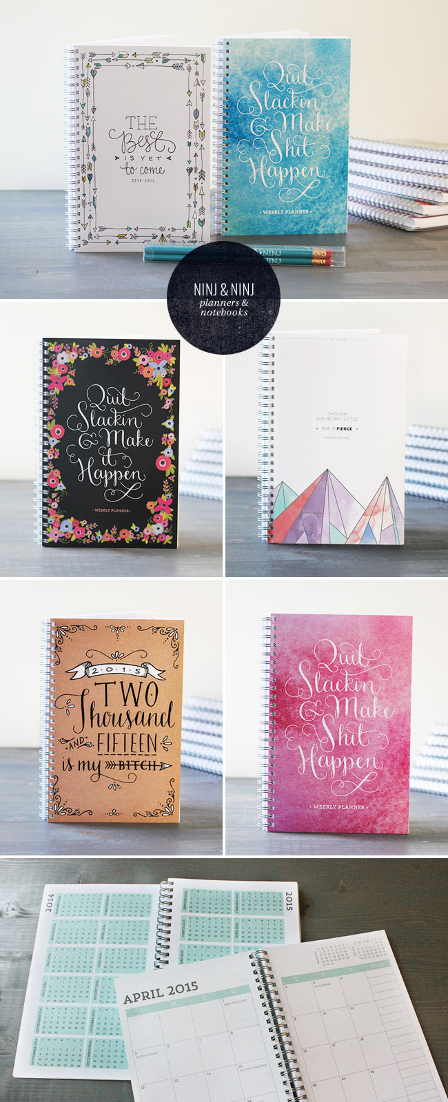 Ninj & Ninj Planners and Notebooks