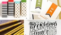 Stylish Back To School Paper Goods as seen on papercrave.com